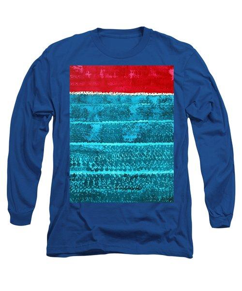 Waves Original Painting Long Sleeve T-Shirt