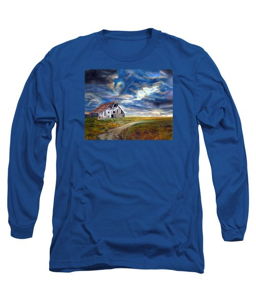 Weathered Barn Long Sleeve T-Shirt by LaVonne Hand