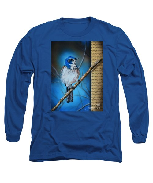 Western Scrub Jay Long Sleeve T-Shirt