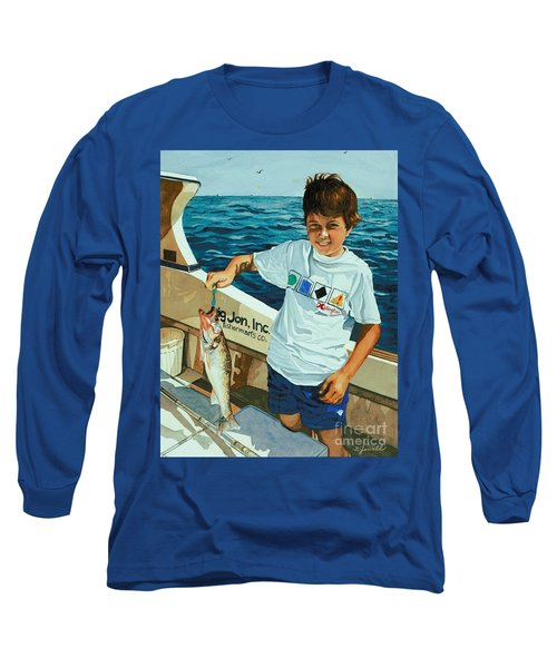 What A Catch Long Sleeve T-Shirt by Barbara Jewell