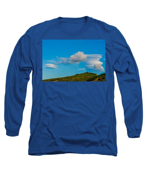 White Clouds Form Tornado Long Sleeve T-Shirt