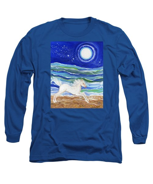 White Horse Of The Sea Long Sleeve T-Shirt