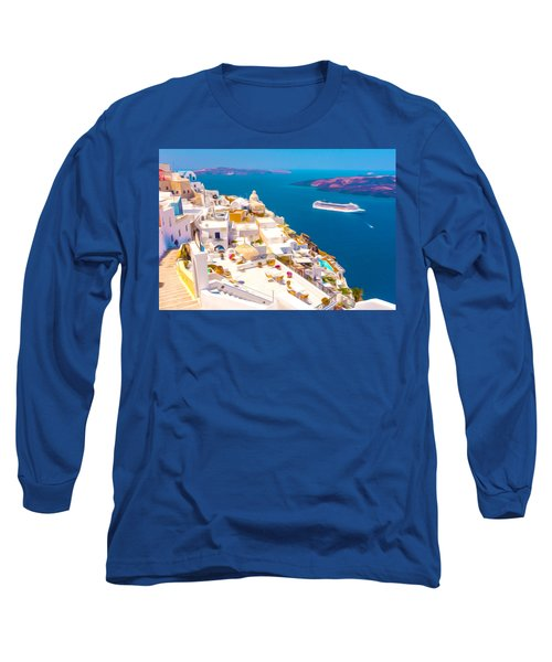 White Houses Of Santorini Long Sleeve T-Shirt