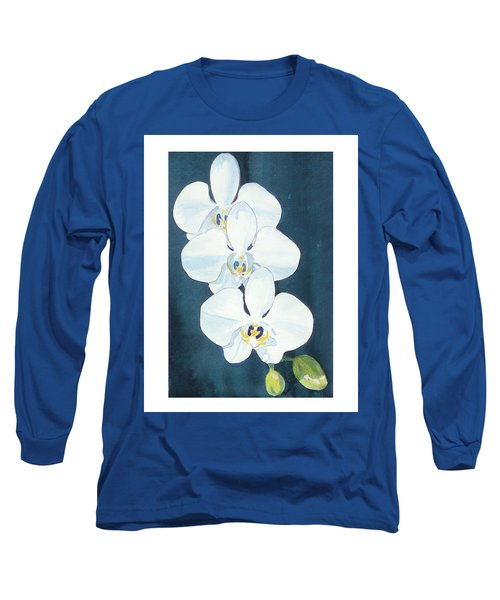 White Orchids Long Sleeve T-Shirt by C Sitton