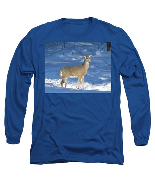 Long Sleeve T-Shirt featuring the photograph White Tail Deer by Brenda Brown