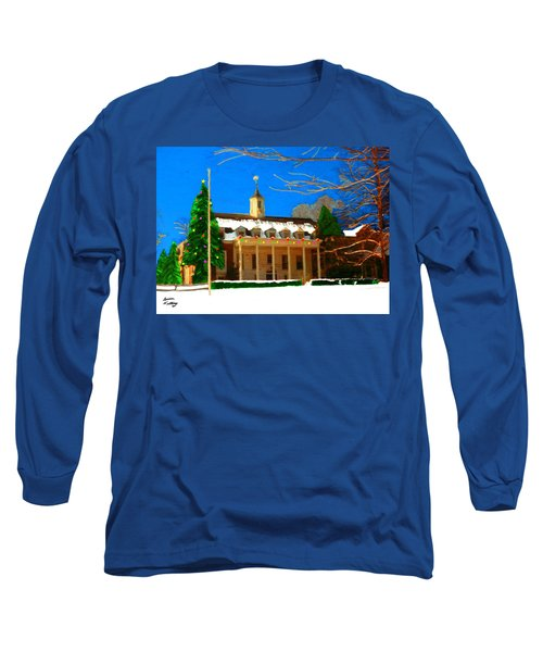 Whittle Hall At Christmas Long Sleeve T-Shirt