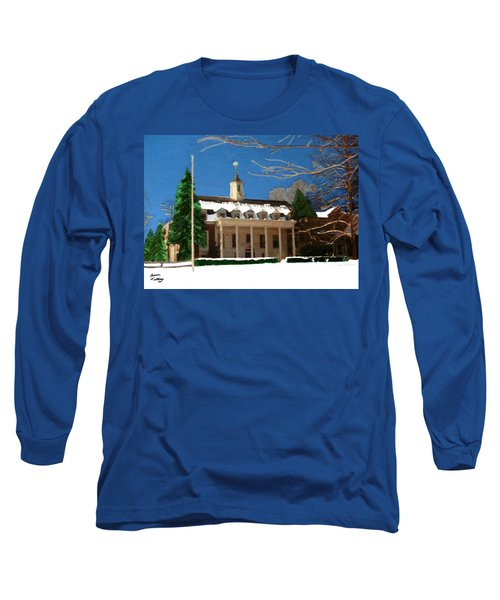 Whittle Hall In The Winter Long Sleeve T-Shirt