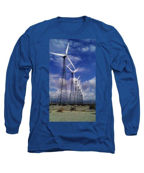 Windmills Long Sleeve T-Shirt by Chris Tarpening