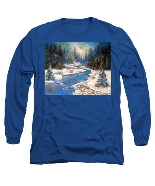 One Little Blue Long Sleeve T-Shirt