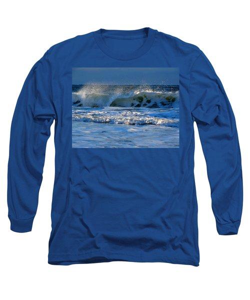 Winter Ocean At Nauset Light Beach Long Sleeve T-Shirt by Dianne Cowen
