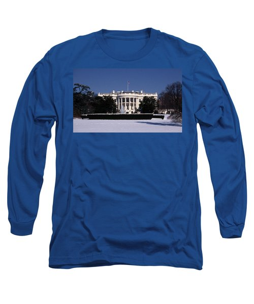 Winter White House  Long Sleeve T-Shirt by Skip Willits