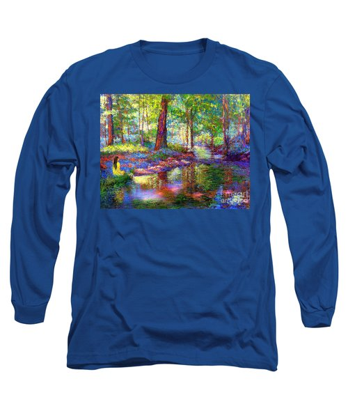 Long Sleeve T-Shirt featuring the painting Woodland Rapture by Jane Small
