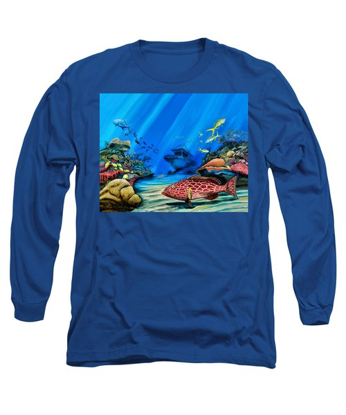 Yellowfin Grouper Wreck Long Sleeve T-Shirt