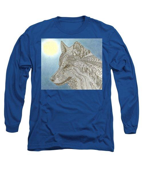 Zen Wolf Moon Long Sleeve T-Shirt