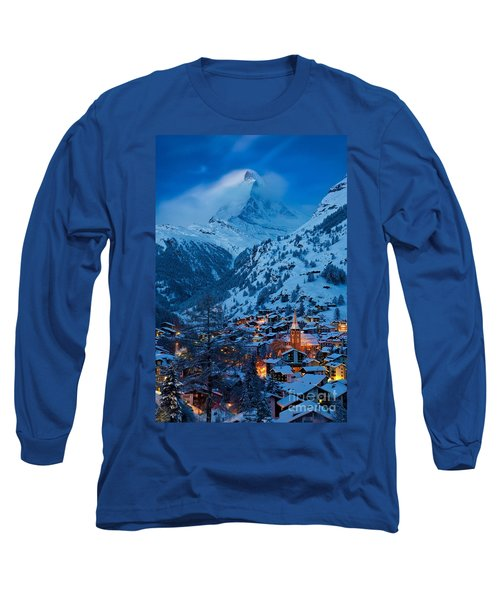 Zermatt - Winter's Night Long Sleeve T-Shirt