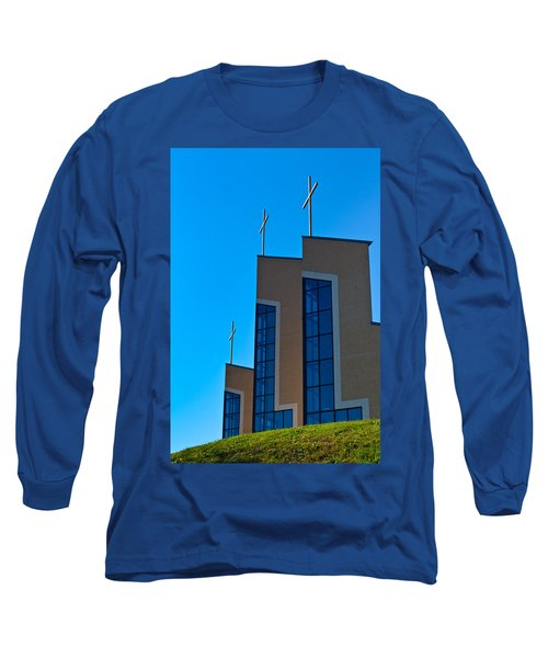 Long Sleeve T-Shirt featuring the photograph Crosses Of Livingway Church by Ed Gleichman
