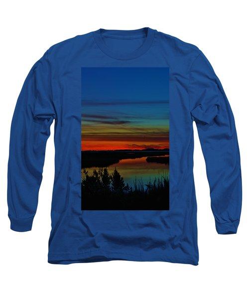 Deep Marshland Sunset Long Sleeve T-Shirt