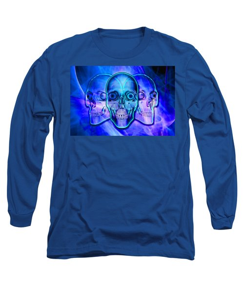 Illuminated Skulls Long Sleeve T-Shirt