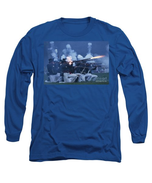 Long Sleeve T-Shirt featuring the photograph American Night Battle by JT Lewis