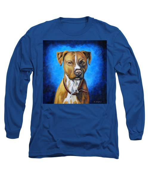 American Staffordshire Terrier Dog Painting Long Sleeve T-Shirt