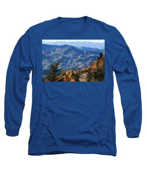 Autumn On The Blue Ridge Parkway Long Sleeve T-Shirt by Lynne Jenkins