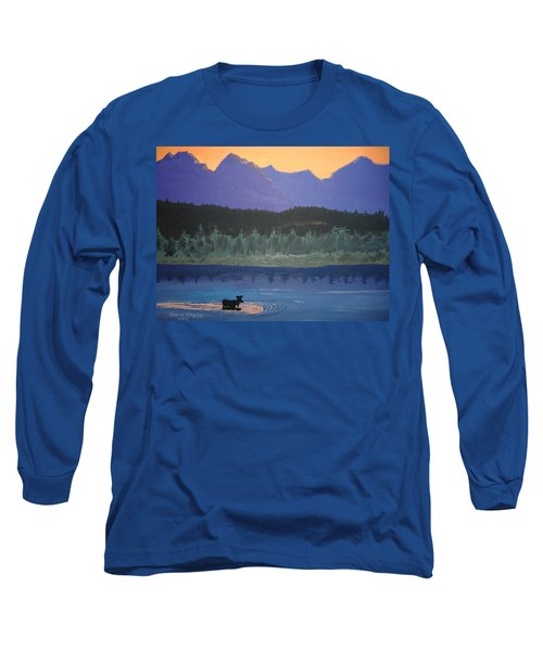 Long Sleeve T-Shirt featuring the painting Big Sky Country by Norm Starks