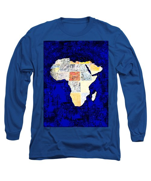 Long Sleeve T-Shirt featuring the photograph Blue Africa by Anne Mott