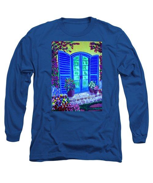 Blue Shutters Long Sleeve T-Shirt