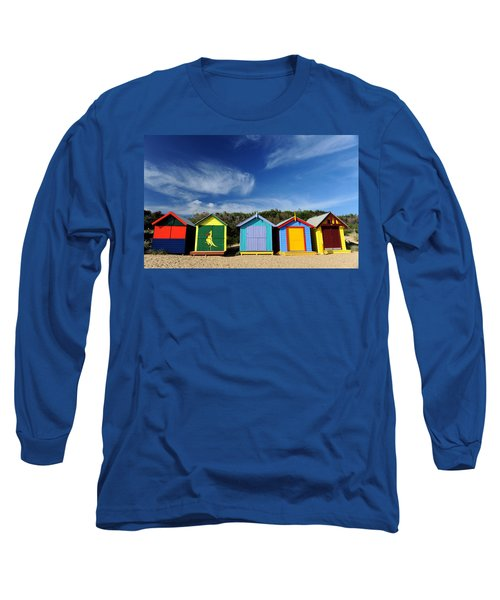 Long Sleeve T-Shirt featuring the photograph Brighton Beach by Yew Kwang