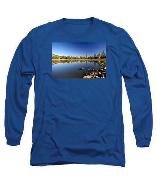 Calm Day On Red Lake Long Sleeve T-Shirt