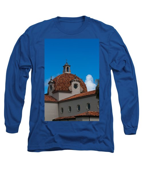 Long Sleeve T-Shirt featuring the photograph Church Of The Little Flower Dome And Cross by Ed Gleichman