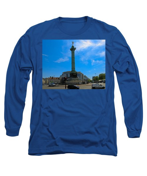 Colonne De Juillet And Opera De Paris Bastille Long Sleeve T-Shirt