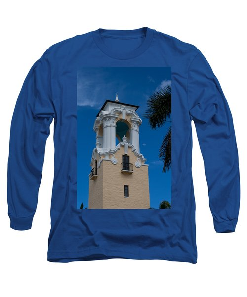 Long Sleeve T-Shirt featuring the photograph Congregational Church Tower by Ed Gleichman