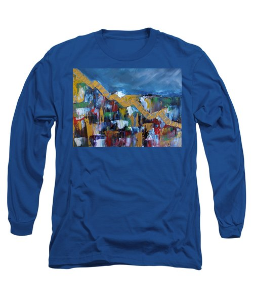 Long Sleeve T-Shirt featuring the painting Economic Meltdown by Judith Rhue