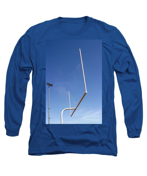 Long Sleeve T-Shirt featuring the photograph Football Goal by Henrik Lehnerer