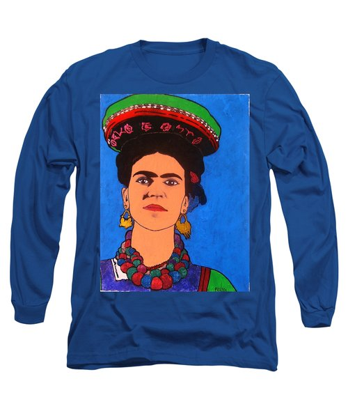 Frida Kahlo Long Sleeve T-Shirt by Roberto Prusso