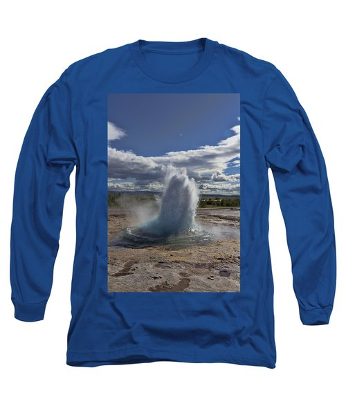 Long Sleeve T-Shirt featuring the photograph Geysir 2 by David Gleeson