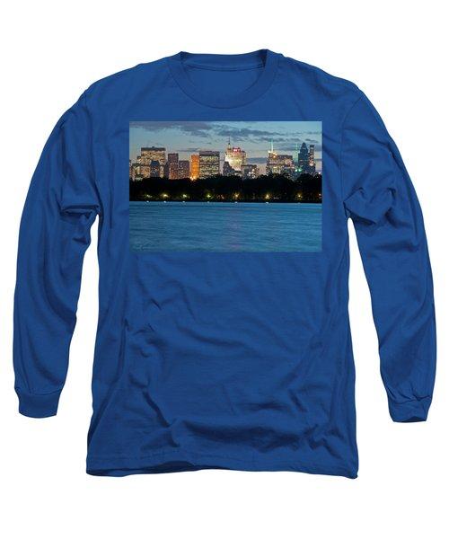 Great Pond Skyline Long Sleeve T-Shirt