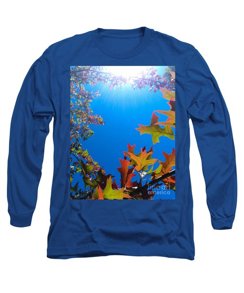 Happy Autumn Long Sleeve T-Shirt by CML Brown