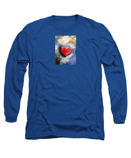 Long Sleeve T-Shirt featuring the painting I Love You by Gary Smith
