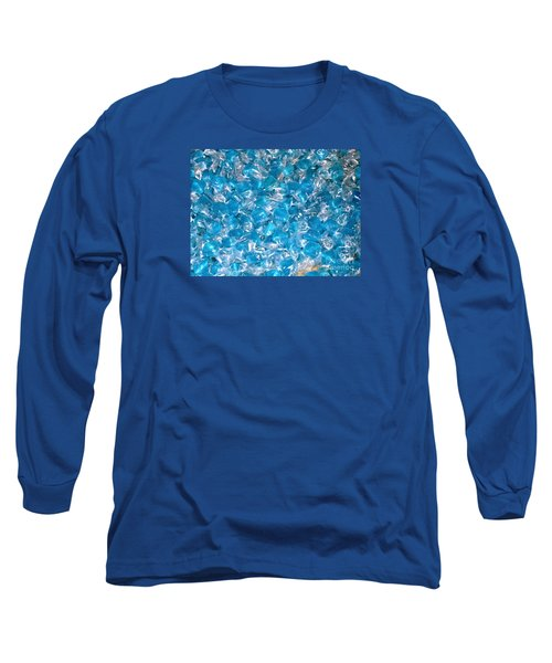 Ice Blues Long Sleeve T-Shirt by Beth Saffer