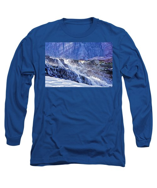 Long Sleeve T-Shirt featuring the photograph Icy Cascade by Albert Seger