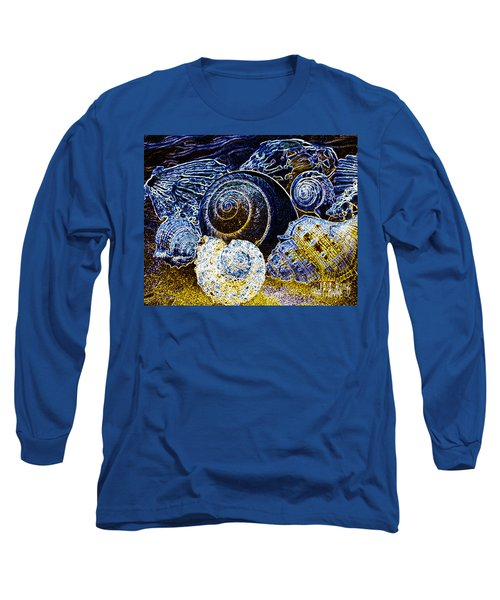 Abstract Seashell Art Long Sleeve T-Shirt by Carol F Austin
