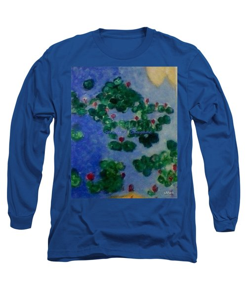 Long Sleeve T-Shirt featuring the painting Lily Pond by Sonali Gangane