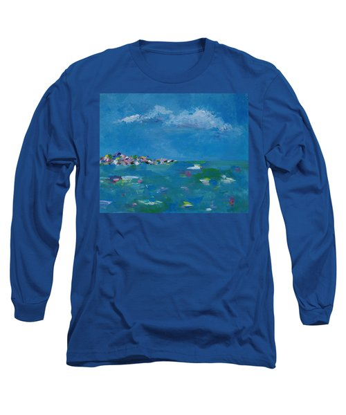 Long Sleeve T-Shirt featuring the painting Ocean Delight by Judith Rhue