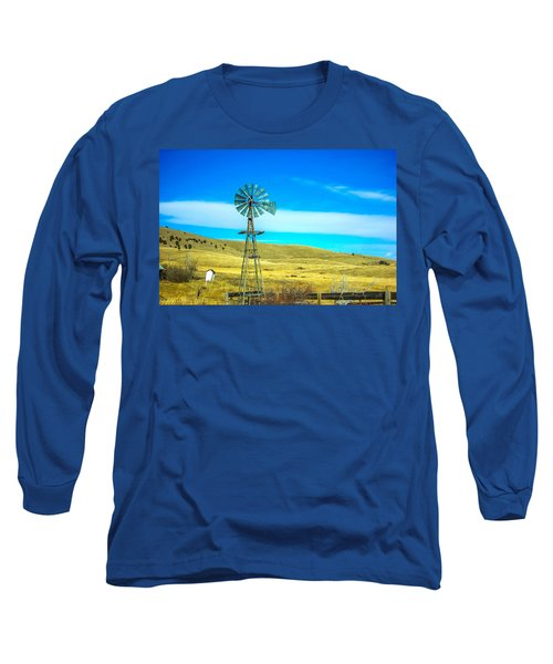 Long Sleeve T-Shirt featuring the photograph Old Windmill by Shannon Harrington