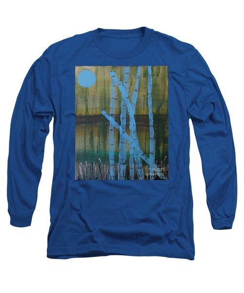 Pale Blue Moon Long Sleeve T-Shirt
