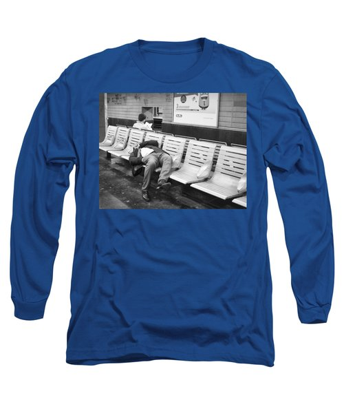 Long Sleeve T-Shirt featuring the photograph Paris Metro by Hugh Smith