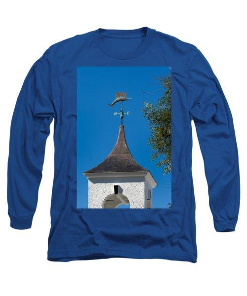 Sailfish Weather Vane At Palm Beach Shores Long Sleeve T-Shirt