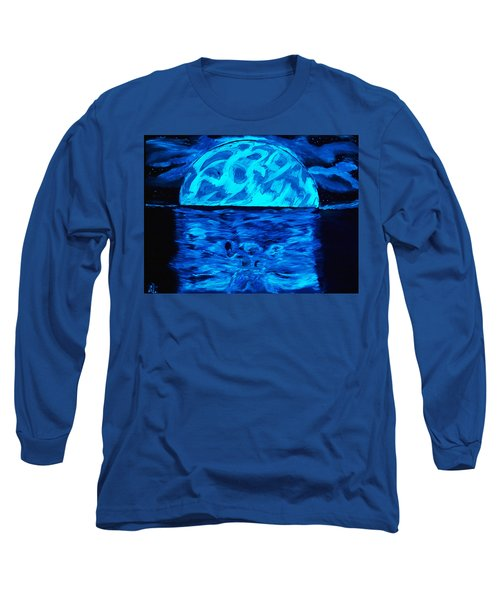 Sea Of Troubles Black Light Long Sleeve T-Shirt by Lisa Brandel